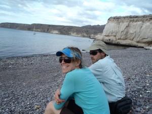 Baja-rob and bri on the beach
