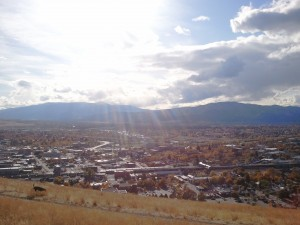 fall colors downtown missoula with abe on north hills