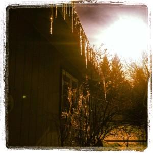 ice on Highland house