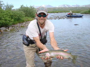 Fishing for rainbows in Alaska - on the horizon line with rob roberts