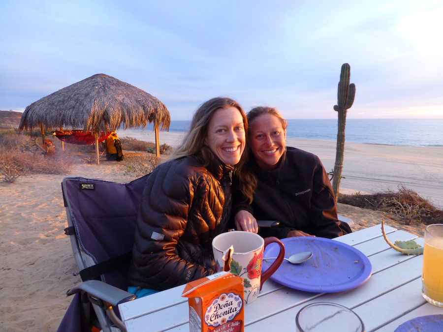katie and brianna on the beach in baja california - on the horizon line travel blog - gringo shades