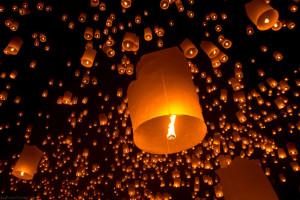 chinese lantern wishes in baja california - on the horizon line sailing blog