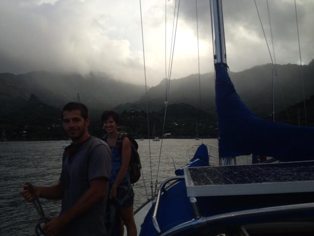 sailing tuamotus crew on the horizon line blog
