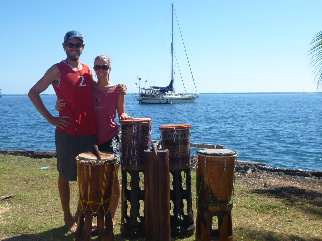 sailing in polynesia on the horizon line travel blog brianna randall and rob roberts drums yacht club tahiti