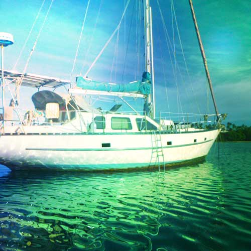 Pregnancy abroad - living on a sailboat in the South Pacific islands. Brianna Randall On the Horizon Line travel blog.