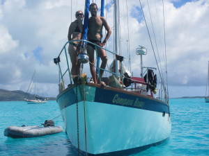 bri and rob on bow of compass rosey in bora bora.jpg