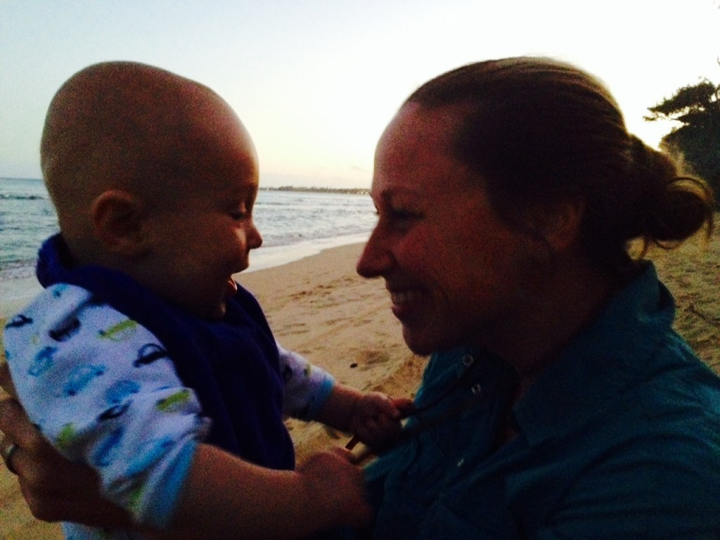 Talon with Auntie Katie, another role model for casting off bow lines and making the most of life.