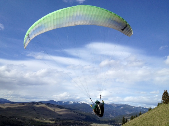 rob roberts paragliding over missoula valley
