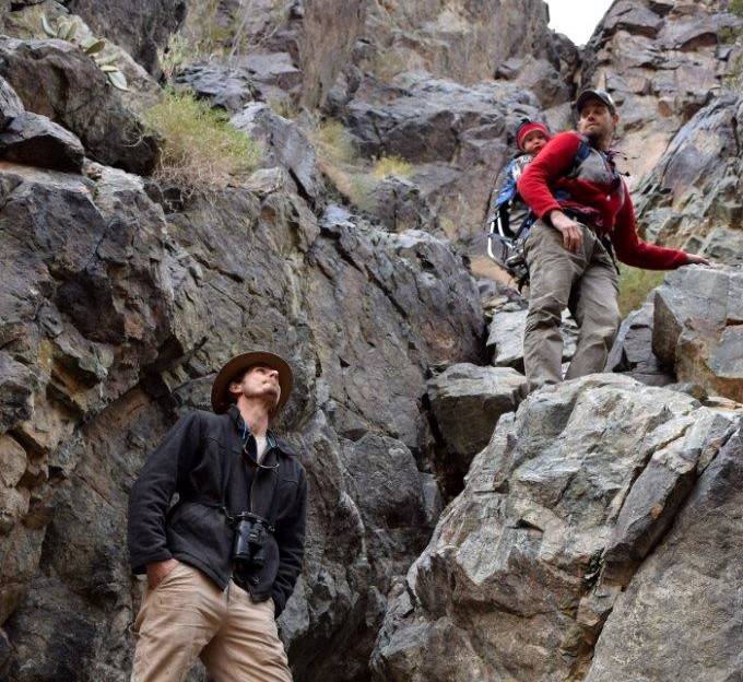 Talon went on a rock climbing expedition to find the only waterfall in Death Valley.