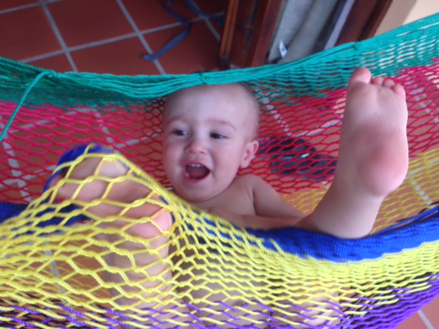 Talon Randall Roberts in a hammock in Mexico